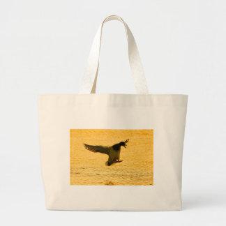 Mallard Duck Landing On Water Bags