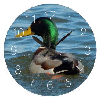 Mallard Duck Large Clock