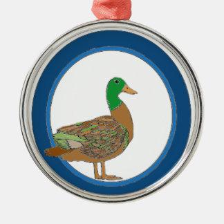 Mallard Duck Metal Ornament