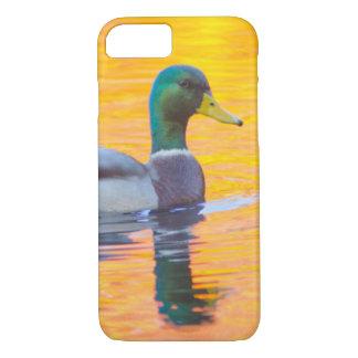 Mallard duck on orange lake, Canada iPhone 7 Case