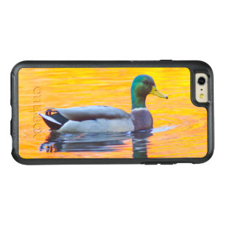 Mallard duck on orange lake, Canada OtterBox iPhone 6/6s Plus Case