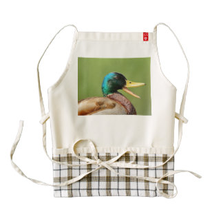 mallard duck portrait zazzle HEART apron