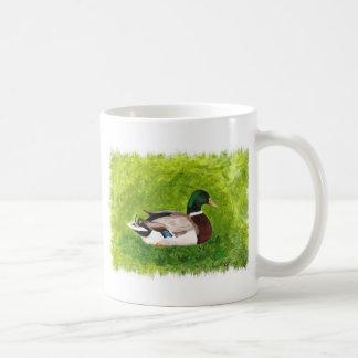 Mallard Duck Sitting in Grass Painting Mug