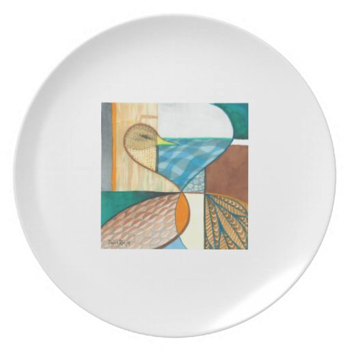 "Mallard Duck ""Waterfowl I"" Design Party Plates"
