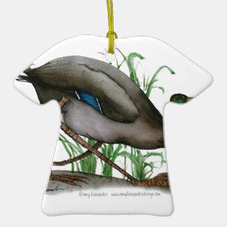 mallard duck - wild bird, tony fernandes ceramic T-Shirt decoration
