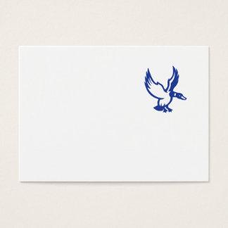 Mallard Duck Wings Landing Side Retro Business Card