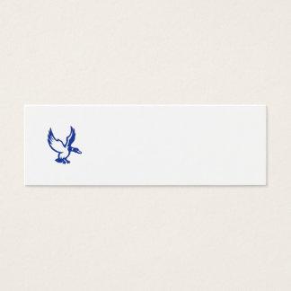 Mallard Duck Wings Landing Side Retro Mini Business Card