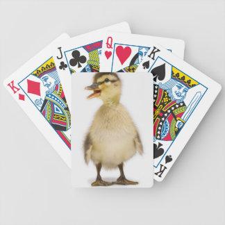 Mallard duckling Anas platyrhynchos Playing Cards