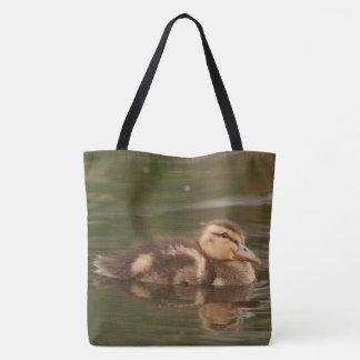 Mallard Duckling Baby Duck Bird Wildlife Animal Tote Bag