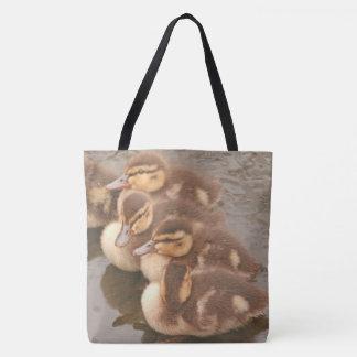 Mallard Ducklings Baby Duck Birds Wildlife Animals Tote Bag