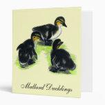Mallard Ducklings Binders
