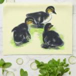 Mallard Ducklings Kitchen Towel