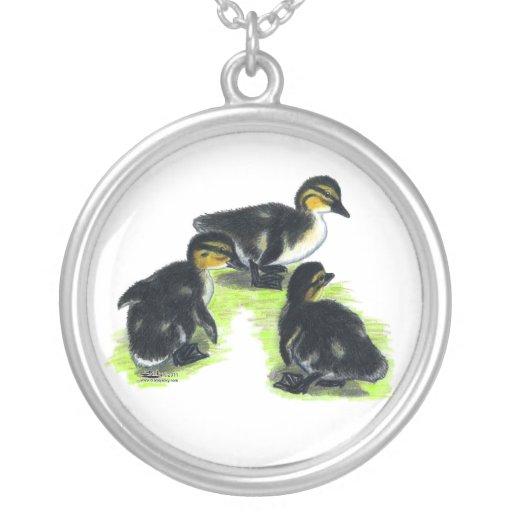 Mallard Ducklings Personalized Necklace