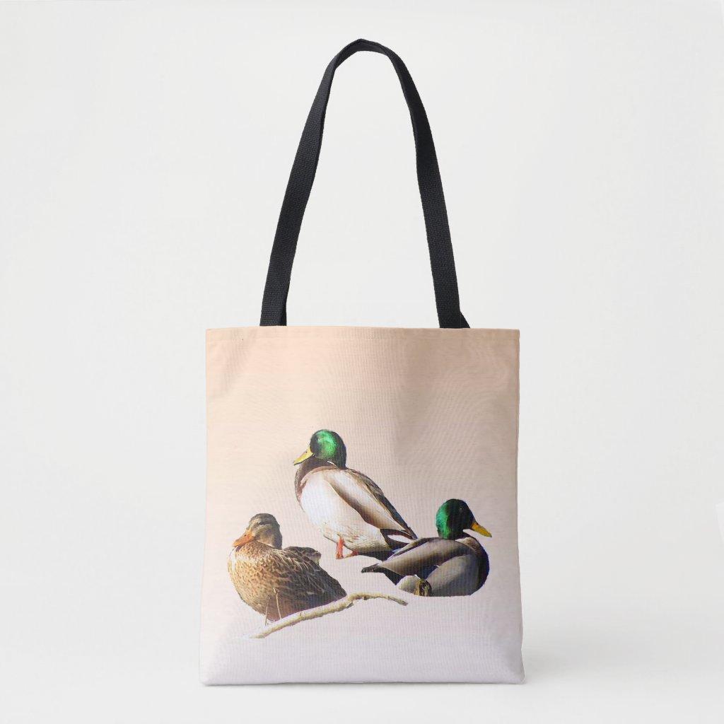 Mallard Ducks Bird Animal Tote Bag
