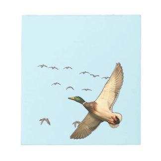 Mallard ducks Canadian geese Notepad