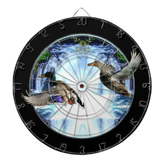 Mallard ducks dart board