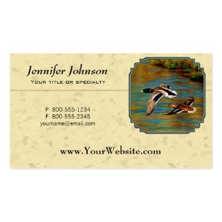 Mallard Ducks Flying Pack Of Standard Business Cards