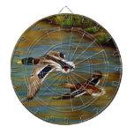 Mallard Ducks Flying Dartboard With Darts