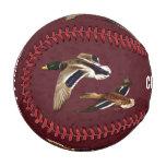 Mallard Ducks Flying Maroon Baseball