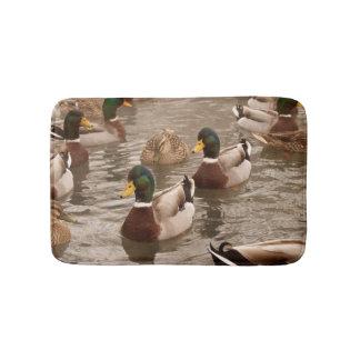 Mallard Ducks on Pond Bath Shower Mat