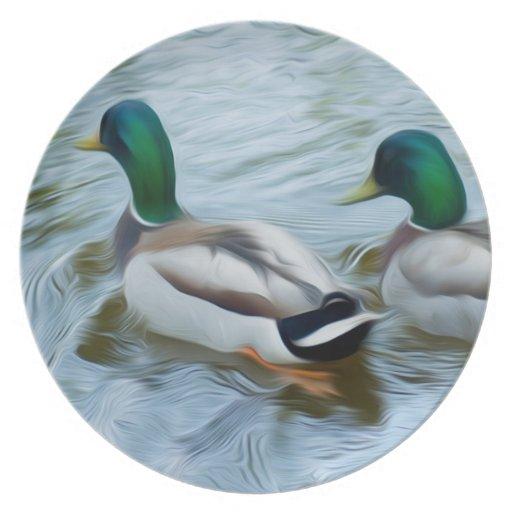 Mallard Ducks Dinner Plate