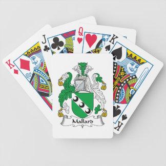 Mallard Family Crest Bicycle Poker Deck