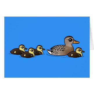 Mallard & four ducklings cards