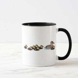 Mallard & seven ducklings mug