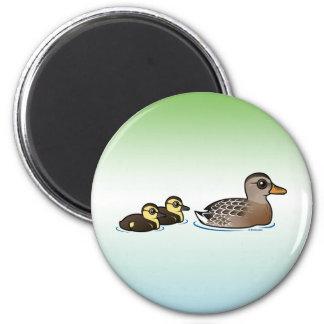 Mallard & two ducklings fridge magnet