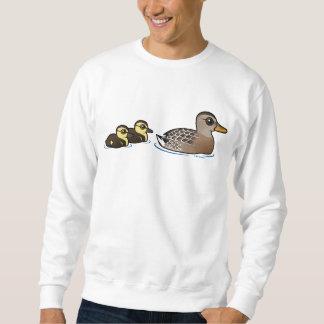 Mallard & two ducklings sweatshirt