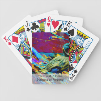 mallard type duck over colored design bicycle playing cards