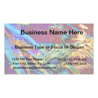 mallard type duck over colored design business card