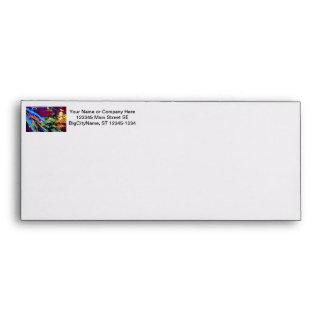 mallard type duck over colored design envelope