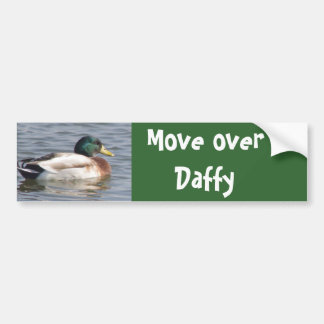 Mallard wuth brown feathers, Move over Daffy Bumper Sticker