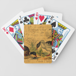 Mallards and Swan Collage Bicycle Playing Cards