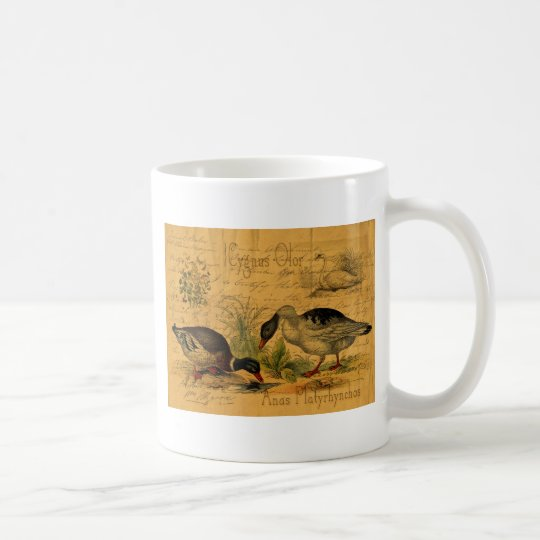 Mallards and Swan Collage Coffee Mug