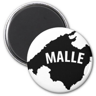 malle contour icon 2 inch round magnet