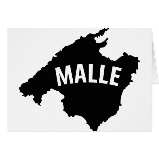 malle contour icon greeting card