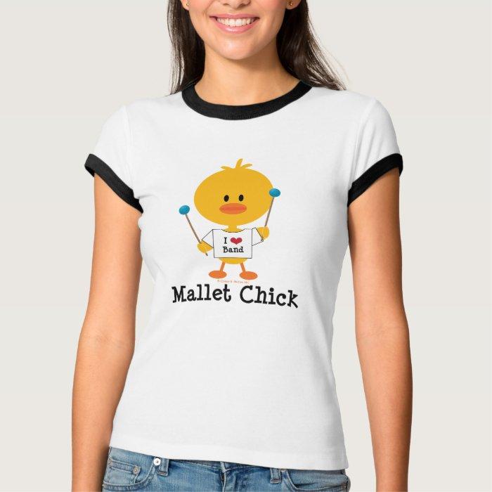 Mallet Chick Ringer T shirt