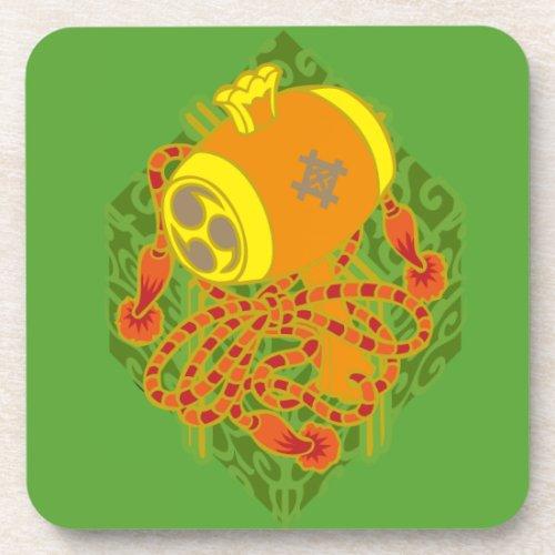 japan, mallet, luck, horn, plenty, figurative, magic, wand, cornucopia, auspicious, symbol, pop, chest, 縁起, 日本, japanese, 吉兆, めでたい, box, lid, wooden, container, coffer, 小槌, こづち, つづら, 櫃, マーク, シンボル, 和風, イラスト, ポップ, illustration