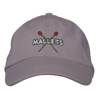 Mallet Sticks Crossed Embroidered Baseball Hat