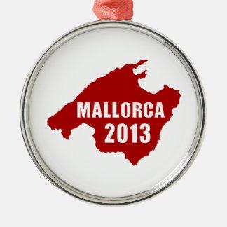 Mallorca 2013 map metal ornament