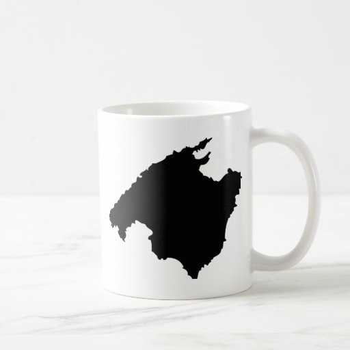 mallorca contour icon coffee mug