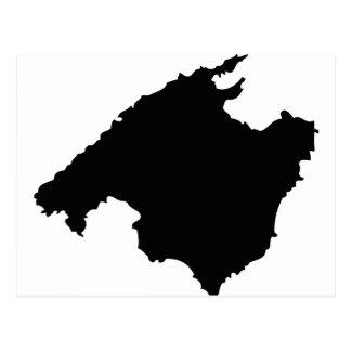 mallorca contour icon postcard