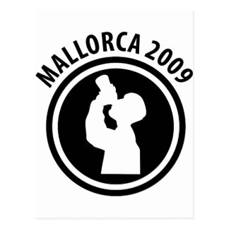 mallorca drunken 2009 icon postcard