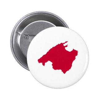 Mallorca map 2 inch round button