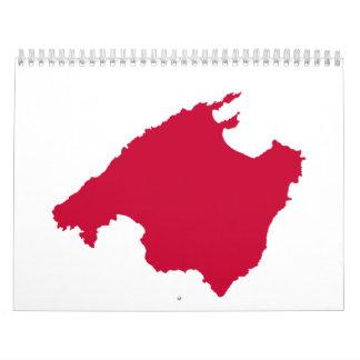 Mallorca map calendar