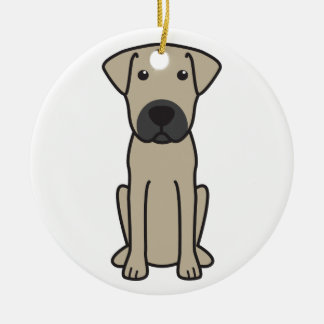 Mallorca Mastiff Dog Cartoon Ceramic Ornament