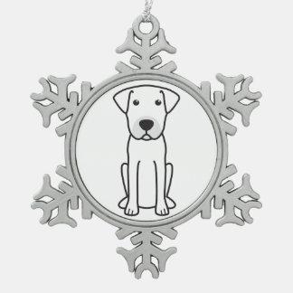 Mallorca Mastiff Dog Cartoon Snowflake Pewter Christmas Ornament