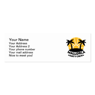 Mallorca Party Crew Double-Sided Mini Business Cards (Pack Of 20)